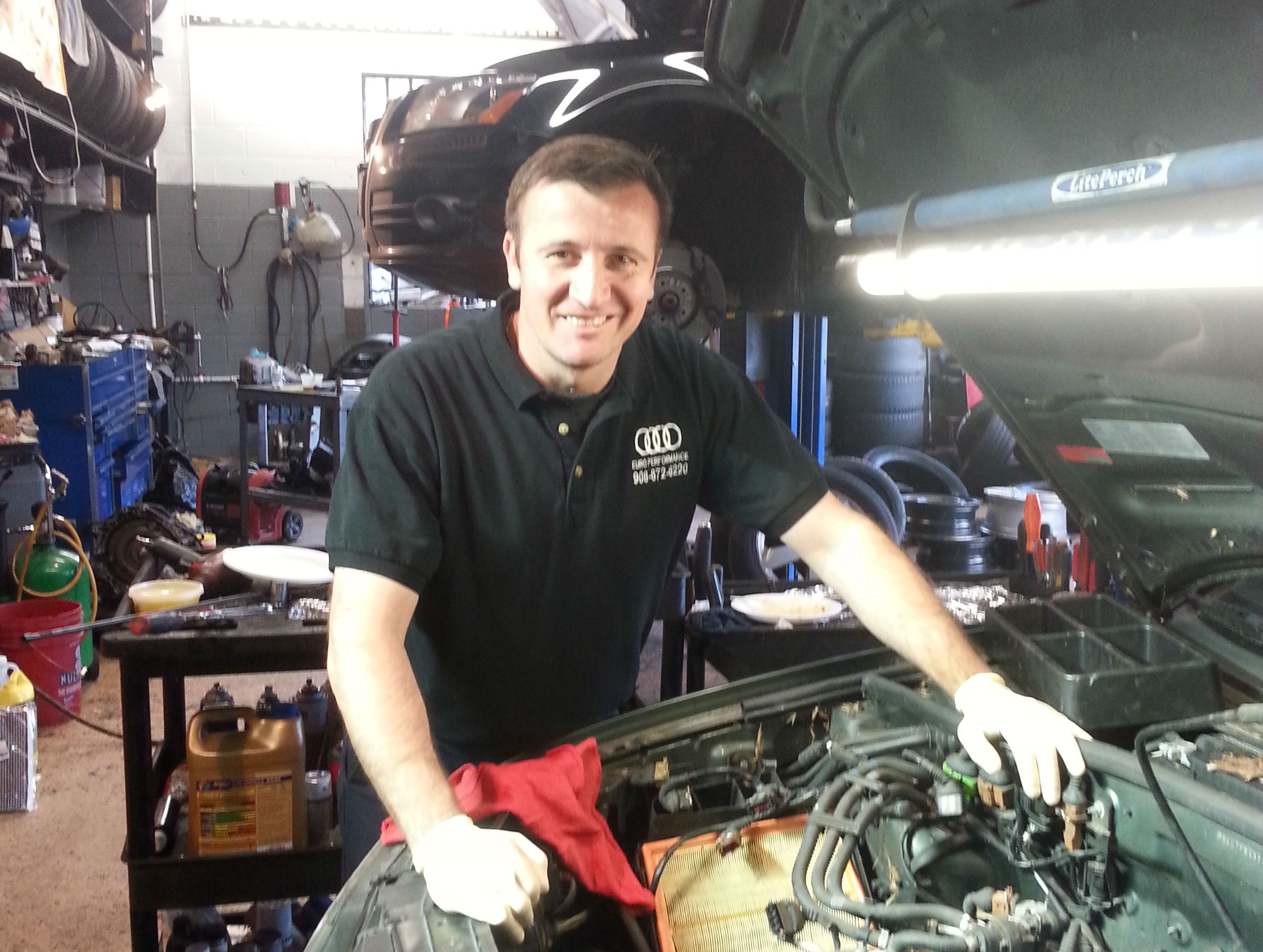 Admir Rakovic One of the highly skilled technicians at Euro Performance LLC in Martinsville, New Jersey