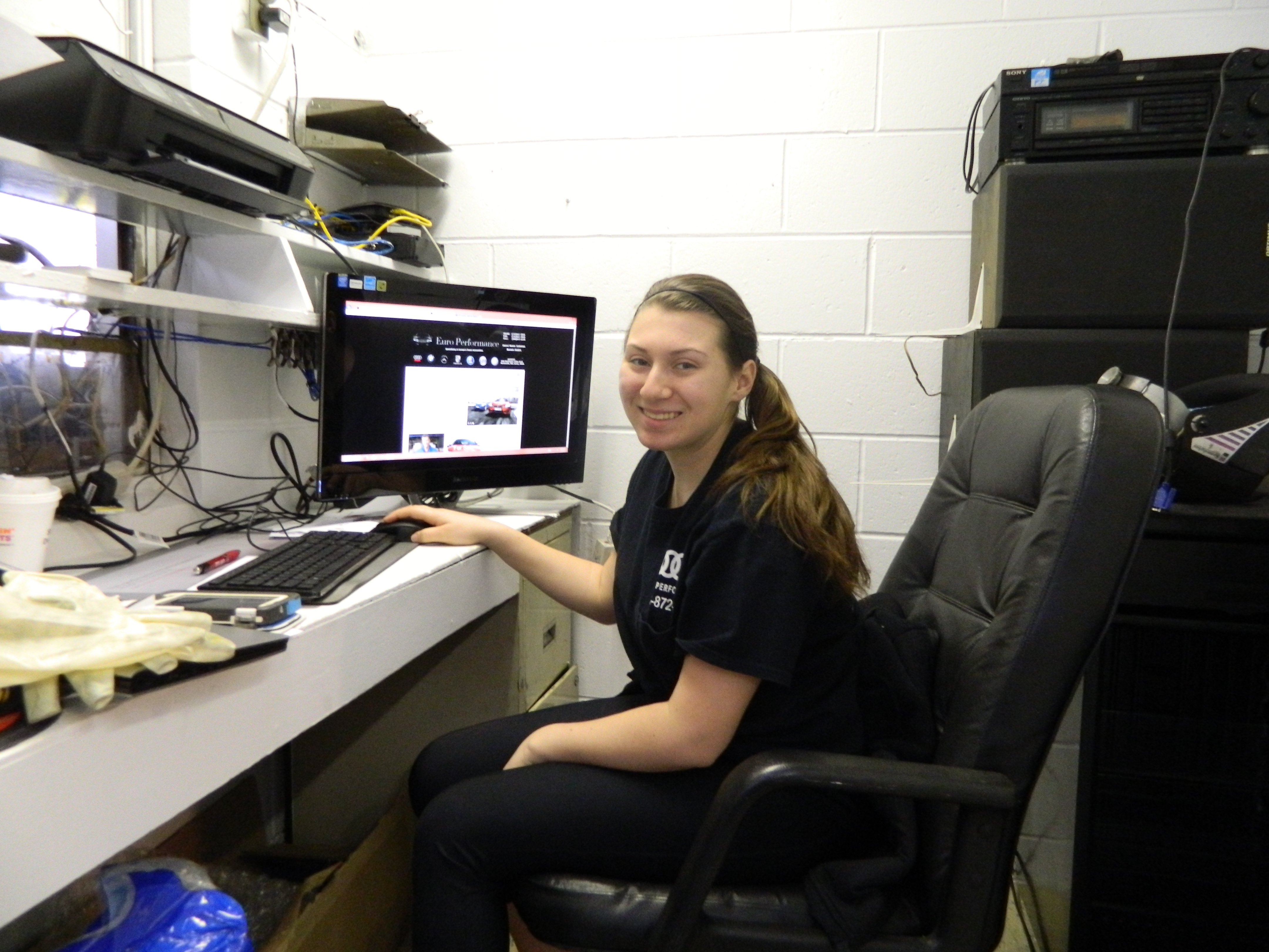 Nermin Hodzic's Daughter Working in The Office at Euro Performance